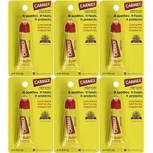 Carmex Lip Balm Tubes, Original Formula, 0.35 oz., Pack of 6