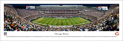 Chicago Bears - 50 Yard - Night - Blakeway Panoramas Unframed NFL Posters