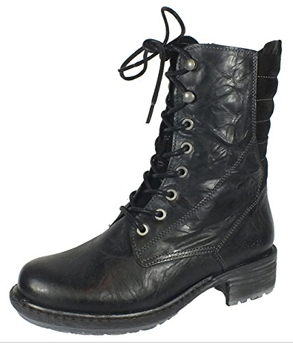 Bos. & Co. Women's Salem Chunky Stacked Heel Combat Motorcycle Boot