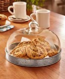 The Lakeside Collection Glass Domed Serving Plate - Galvanized