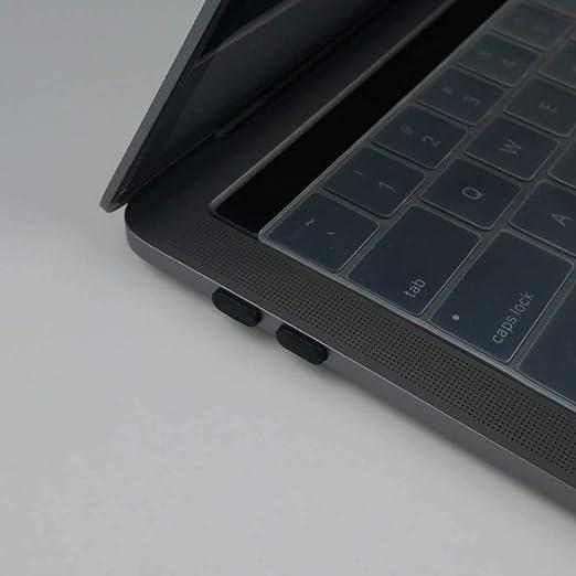 12-Inch con Retina ProCase Anti-Polvere Spazzola Polvere per MacBook Air 13 2018 Nero Spine Port Silicone Coprire Coppe Dust Cup per MacBook Air 13 MacBook Pro 2018 2017 2016 Pro 13 15