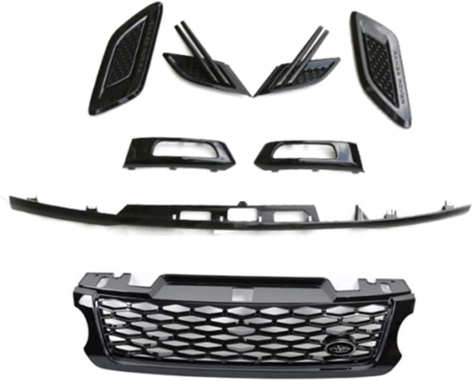 SnailAuto 8Pcs Kit for 2014 2015 2016 2017 Land Rover Range Rover Sport - Front Grille Side Vent Fog Light Cover Rear Door Lamp Trim