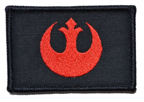 Rebel Alliance Emblem 2x3 Morale Patch - Black with Red