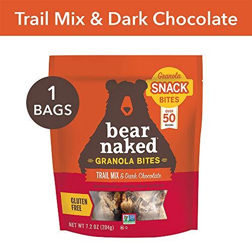 Bear Naked Trail Mix & Dark Chocolate Granola Bites - Gluten Free | Non-GMO | Kosher | Vegan - 7.2 Oz