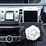 cover seat accessories car flower - COGEEK Camellia Flower Car Seat Headrest, Seat Belt Shoulder Pad, Interior Review Mirror Cover, Air Vent Storage Box (air vent storage box)