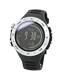 [LAD WEATHER]Swiss sensor 100m water resistant Altimeter Weather (Sunny/ Cloudy/ Raining/ storm) Azimuth Watch