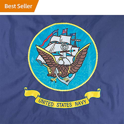 5 Yard Case - Jetlifee US Navy Flags 3 x 5 Ft by U.S. Veterans Owned Biz. Double-Side Embroidered Flags US Army Flag Decorative Flags for Indoor and Outdoor Flags with Brass Grommets for Easy Display (3x5 Ft Navy)