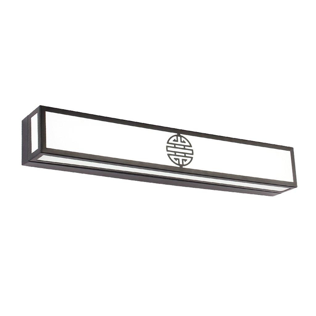 JXXDQ -Badezimmerbe leuchtung Badezimmerspiegel Make-up Lampe, Schmiedeeisen + Stoff + PVC, mattschwarz -langlebig (Farbe   weißes Licht-40CM 16W)