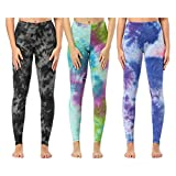Soft Printed Leggings for Women – One/Plus Size High Waisted Buttery Spandex Pants (Plus Size (US 12-24), Colors (Hand Made Tie-dye))