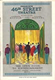 """This is a beautiful March 31st, 1930 program (playbill) from the Original Broadway production of the new musical revue """"EARL CARROLL'S SKETCH BOOK"""" at New York's 46th Street Theatre. (The production opened July 1st, 1929 at Earl Carroll's The..."""