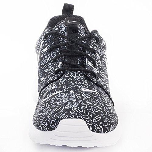 black Zapatillas Nike De Wmns One Deporte Roshe Print Prem Mujer Para Blanco White 11nPUwqS