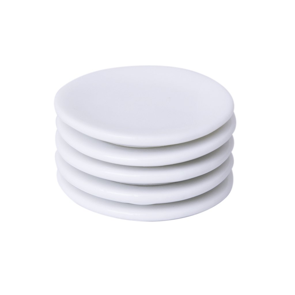 Wei/ß 5pcs//Set Sharplace 1:12 Puppenhaus Mini Tafelservice Porzellan Teller Set Geschirr