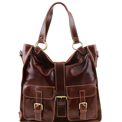 Tuscany Leather - Melissa - Borsa donna in pelle Miele - TL140928/3 Marrone