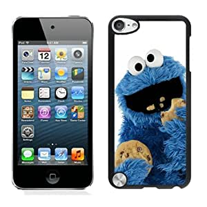 Unique And Durable Designed Case With cookie monster Black For iPod Touch 5 Phone Case