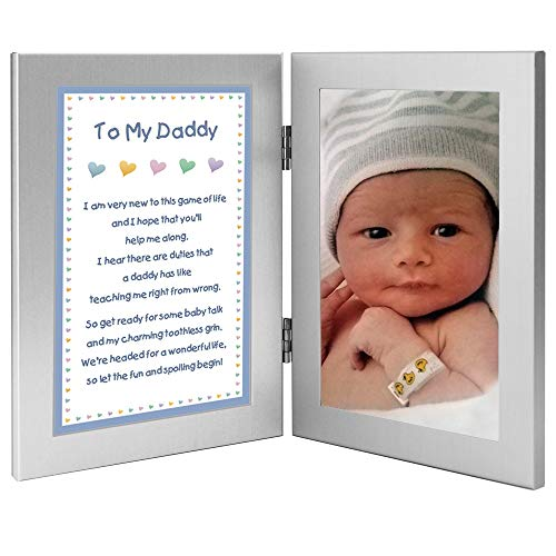 Newborn Baby Boy to Daddy Gift for Father - Add Photo to Frame (Christmas Gifts For Daddy From Baby Boy)