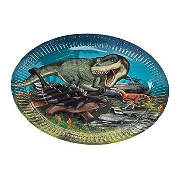 Neu 2019: 8 Platos de Fiesta de Dinosaurio y T-Rex para ...