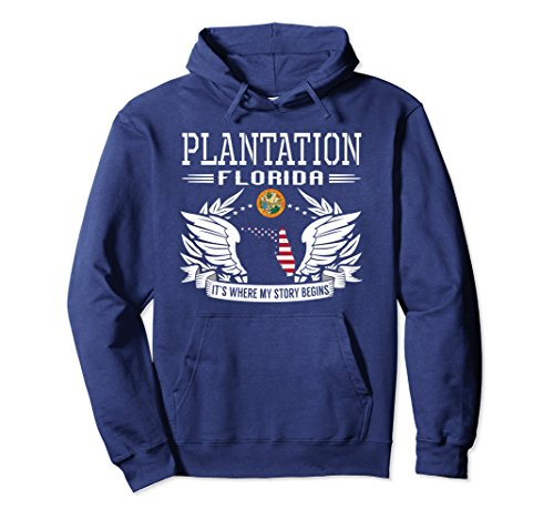 Unisex Plantation, FL - It's Where My Story Begins Pullover Hoodie Large - Plantation Fit You Fl