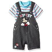 Disney Baby-Boys 2 Piece Mickey Mouse Shortall Set
