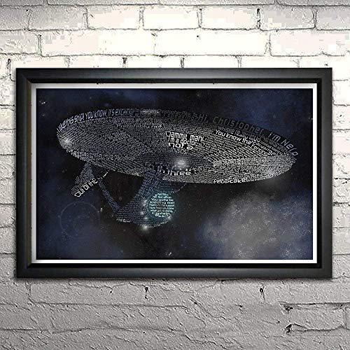 Star Trek (2009) word art print 11x17