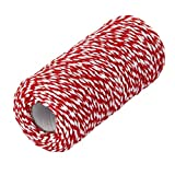 red and white butcher paper - ROSENICE 100m Cotton Bakers Twine String Cord Glass Bottle Gift Box Decor Craft (Red+White)