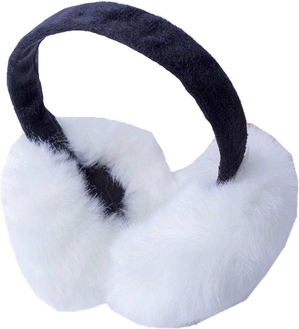 Women Rabbit Fur Earmuffs Comfortable Warm Ear Cover Adjustable