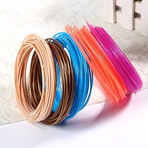 3D Stift Filament AveyLum 10 Packungen 1,75 mm 3D Druck PLA Filament Füllt 16 Fuß Bunte 3D Druckerfilamente Nach
