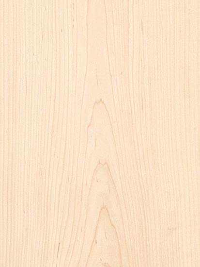 Paperback Wood Veneer Sheet White 24x96 10 mil Maple Flat Cut