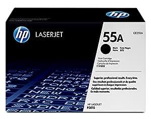 HP 55 - Cartucho de tóner Original HP 55A Negro para HP LaserJet empresarial P3015, P3015d, P3015dn, P3015x e multifunción HP LaserJet Enterprise 500 M525dn, 500 M525f , flow M525c , M521dn , M521dw