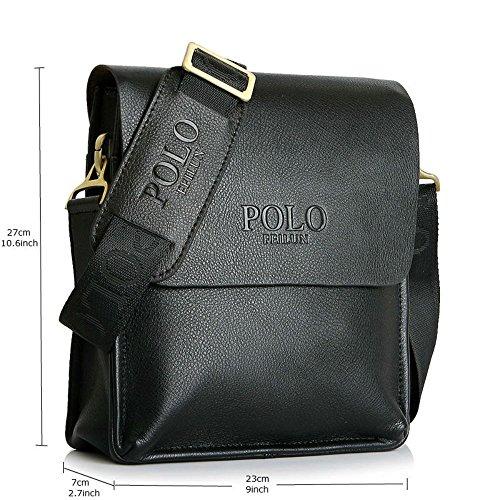 9c41dad10ad2a6 best POLO FEILUN Classic Vintage Genuine Leather Men s Briefcase Business  Bag Composite Casual Shoulder Messenger Satchel