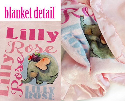 Personalized Baby Blanket (Pink - Personalized) Super Soft