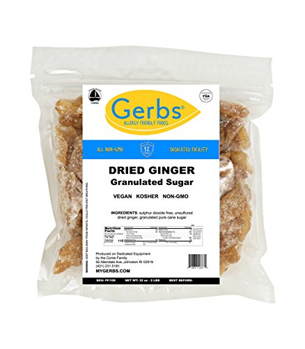 Cheap Dried Ginger, 2 LBS Granulated & Unsulfured by Gerbs – Top 12 Food Allergy Free & NON GMO – Product of Thailand