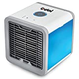 EDAL Mini Air Cooler Air Purifier Humidifier 3 in 1 Evaporative USB Powered Personal Space Cooler Desk Fan Portable Air Conditioner for Office and Bedroom (White)