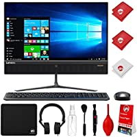 Lenovo Ideacentre AIO 510 AMD 2.9GHz A9-9410 8GB 1TB HDD 23 All-in-One Windows 10 Desktop Computer with Circuit City Mouse Pad + Headphones + Cleaning Kit (F0CE0009US)