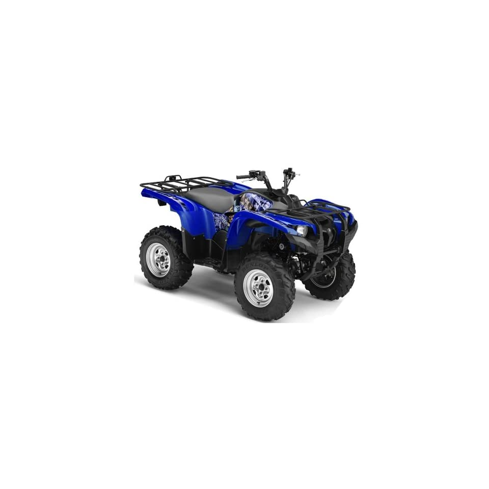AMR Racing Yamaha Grizzly 700 ATV Quad Graphic Kit   Madhatter Blue, Silver