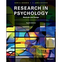 Research in Psychology: Methods and Design, 8th Edition