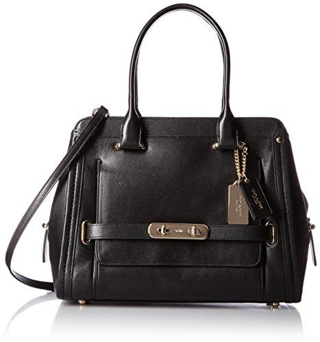 COACH Women's Swagger City Satchel LI/Black Handbag ()