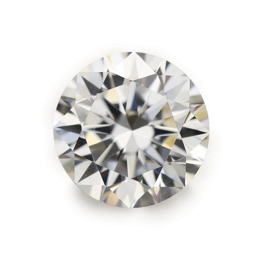 50pcs 10.0mm AAAAA Round Machine Cut Loose cubic zirconia CZ Stone Best Quality (10.0mm 50pcs) by WUZHOUGEMS