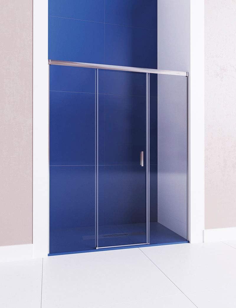 161-170 cm Cristal 6 mm con ANTICAL INCLUIDO Modelo CENTAURO Mampara de ducha frontal de 2 hojas fijas y 1 puerta corredera