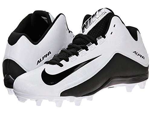 NIKE Mens Alpha Strike 2 Three-Quarter Football Cleat White/Black Size 14 9C9g6hc