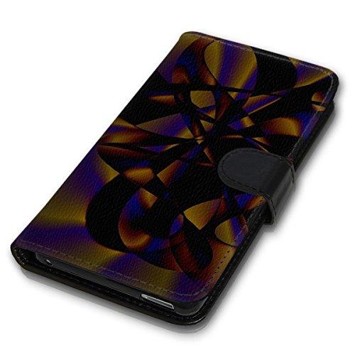 Wallet Book Style Flip Handy Tasche Case Schutz Hülle Schale Motiv Etui für Apple iPhone 5 / 5S - Design Flip MV261