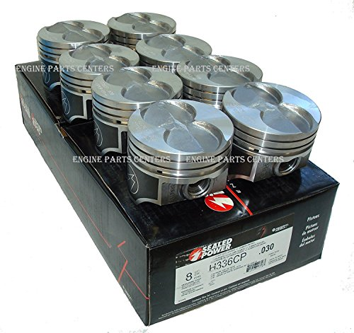 Ford Flat Top - Ford 351W 5.8L Speed Pro Hypereutectic Coated Skirt Flat Top Pistons Set of (8) 4.030