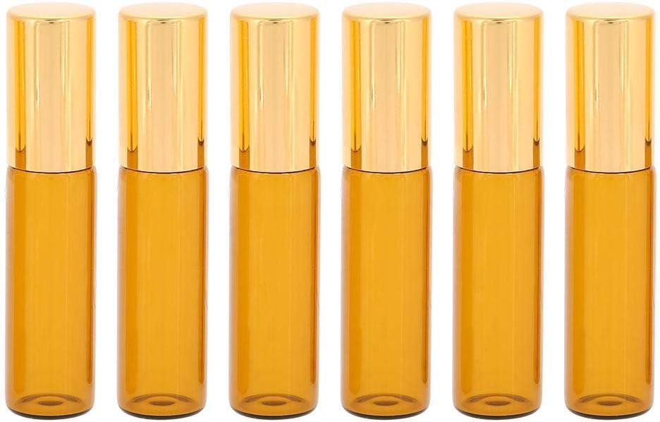 1# Estuche de transporte de aceites esenciales rodillos port/¨/¢tiles Mini bolsa de almacenamiento de botellas de aceites esenciales Cuidado de transporte de viaje 6 piezas 5 ml