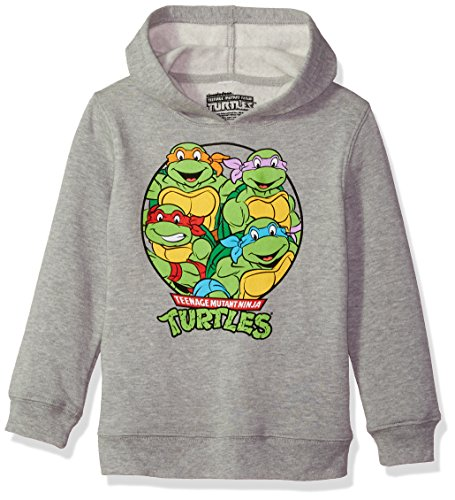 Nickelodeon Little Boys' TMNT Pullover Sweatshirt, TMNT Heather Grey, 7