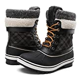 GLOBALWIN Women's Winter Snow Boots Blac