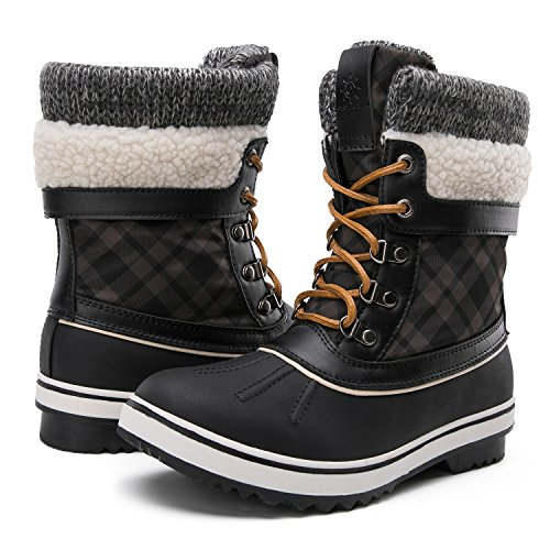 GLOBALWIN Women's Winter Snow Boots Black 10 D(M) US Women's