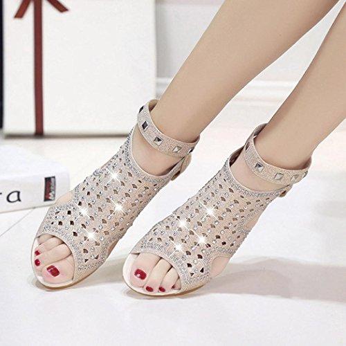 Verano Zapatos Bajos Peep Playa Rhinestone Bohemia Sandalias Sandalias Mujer Sandalias 2018 Verano Toe Youth Casuales Romanas K Beige Baratas de 2018 Zapatos Zapatos Chanclas Mujer Caw1xF8Xq