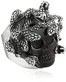 King Baby Medusa Skull with Carved Jet Ring, Size 12