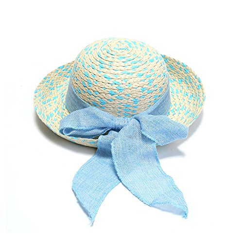 YourCandy Girl Straw Hat Bowknot Fedora Sun Protection Hats