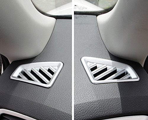 ABS mate interior delantero superior aire acondicionado Vent Outlet Cover Trim 2pcs para kodiaq 2016 2017 2018