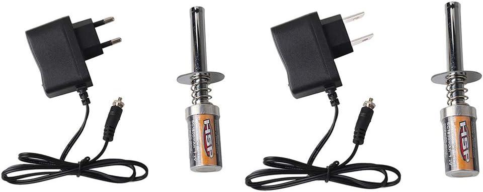 Diamoen Reemplazo Starter Kit de buj/ías incandescentes Encendedor Cargador de bater/ía para HSP Redcat Nitro Potencia 1//8 1//10 RC Car